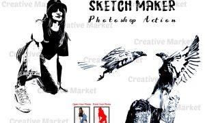 Sketch Maker Photoshop Action 6516725