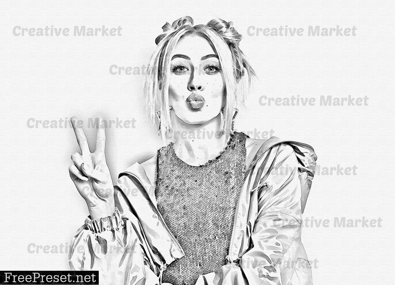 Sketch Pop Art PS Action 6497428