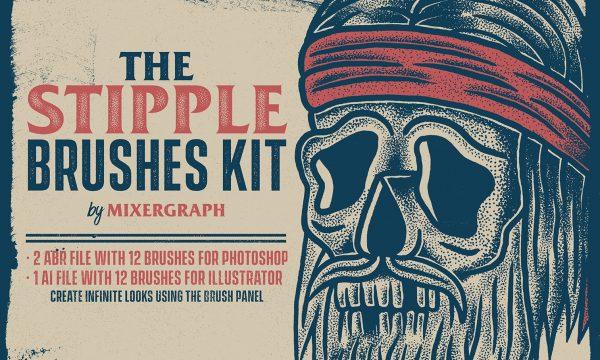 The Stipple Brushes Kit 2035745