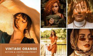 Vintage Orange Action & Lightrom Presets