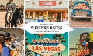 15 Western Retro Lightroom Presets
