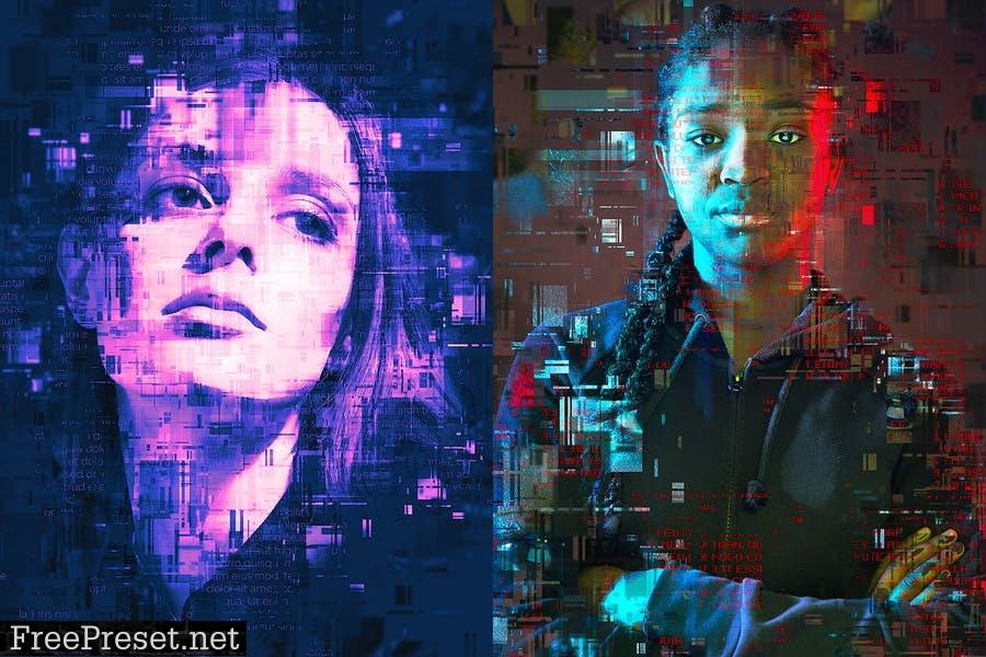 Glitch Photoshop Action 2JFLBCL