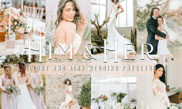 Light Airy Wedding HIM & HER Lightroom Presets