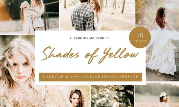 Lightroom Presets - Shades of Yellow