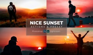 Nice Sunset (Actions & Presets)