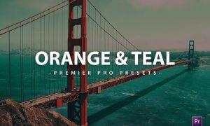Orange & Teal Premier Pro Video Presets