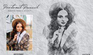 Portrait Pencil Sketch Photo Effect V3N2TEU