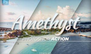 Titanium Amethyst Coloring Photoshop Action
